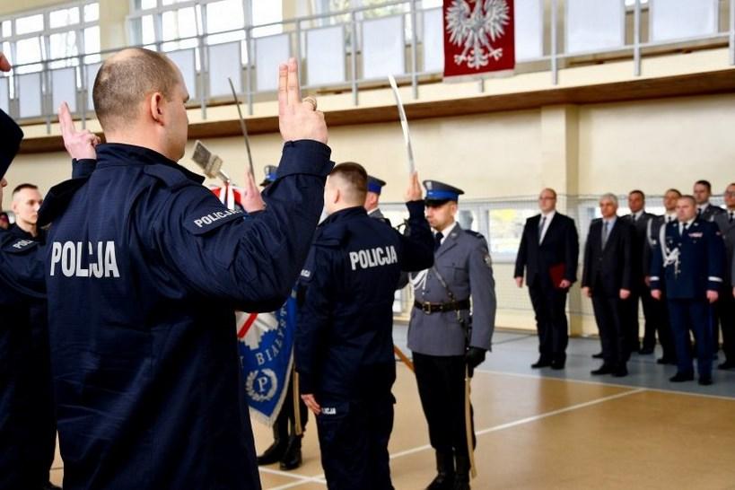 Podlaskie. Nowi policjanci złożyli ślubowanie [FOTO]