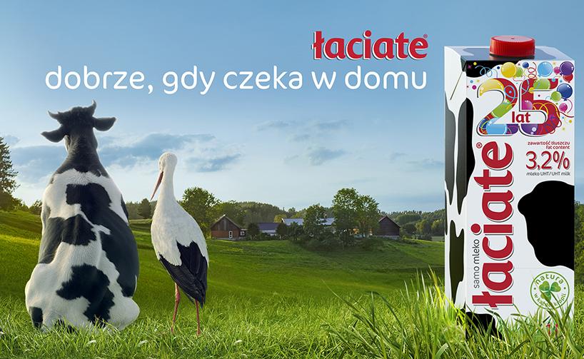 Grajewo: Łaciate w nowej kampanii na 25-lecie najbardziej rozpoznawanej marki mleka w Polsce