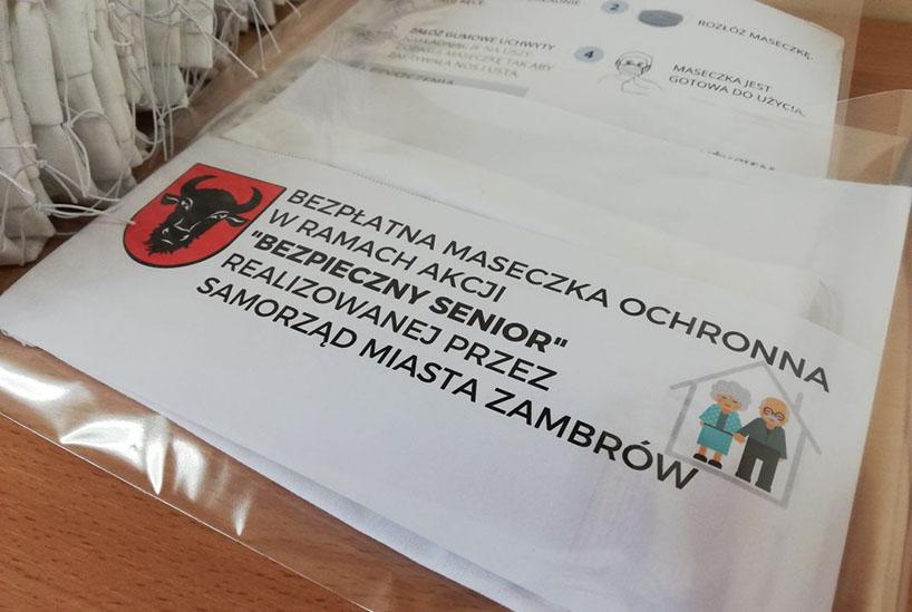 Zambrów: Miasto będzie rozdawać maseczki swoim najstarszym mieszkańcom