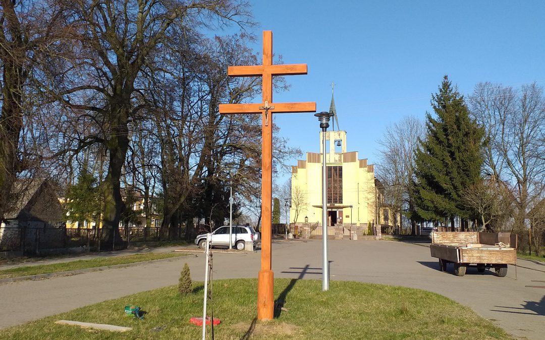 Krzyż Karawaka stanął na rynku w Burzynie