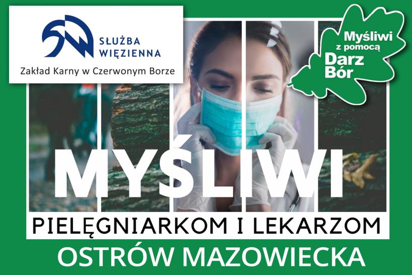 Ostrów Mazowiecka: Myśliwi przekazali maseczki pracownikom służby zdrowia [FOTO]
