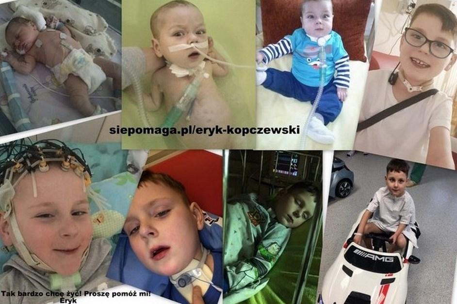 Region. Wesprzyj walkę o życie 7-letniego Eryka Kopczewskiego
