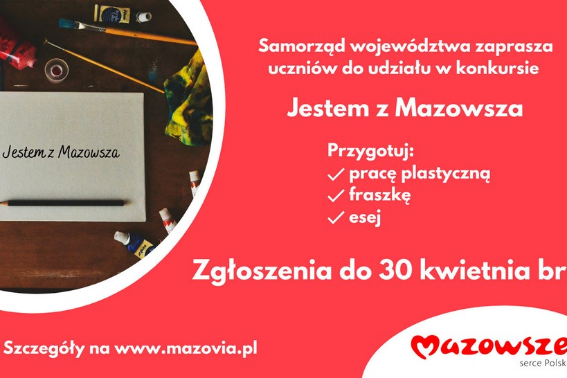 """Mazowsze. Rusza konkurs """"Jestem z Mazowsza"""""""