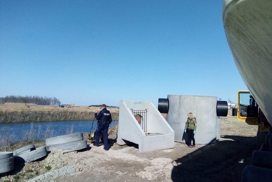 Region. Trwają poszukiwania 45-latka, który przyjechał na budowę Via Baltica