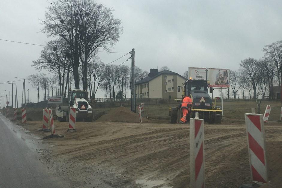Via Baltica: Budowa węzła Kolno. Są utrudnienia