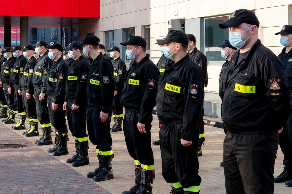 Mazowsze. Strażacy pomagają w szpitalu MSWiA
