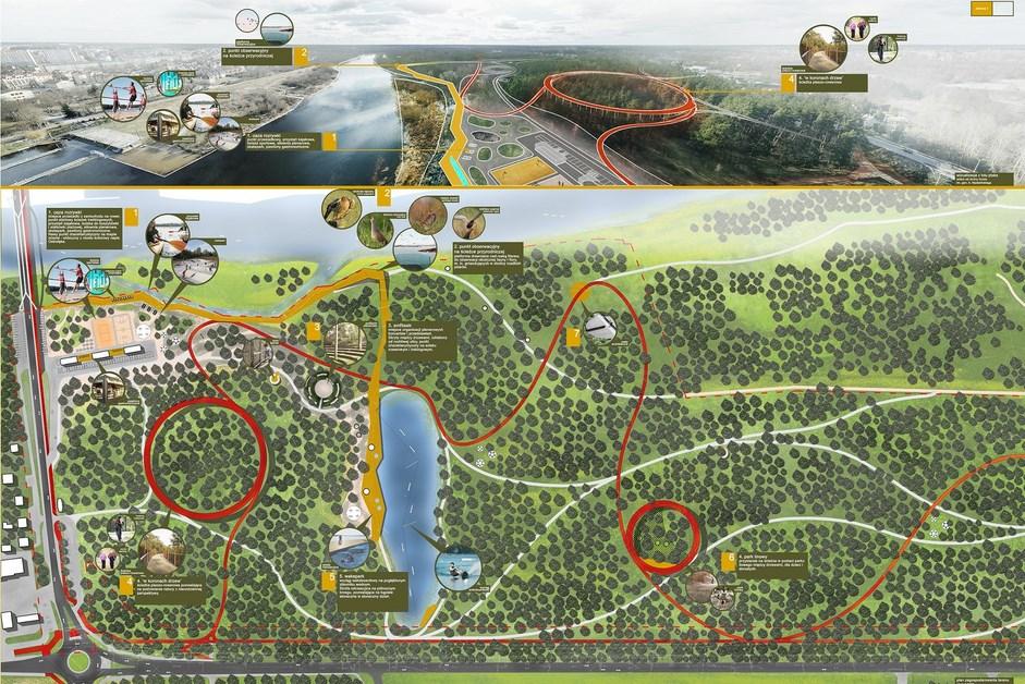 Ostrołęka: Poznaliśmy konkursowe pomysły na tereny nad Narwią