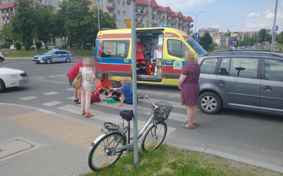 Łomża: Potrącona rowerzystka trafiła do szpitala