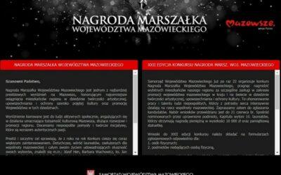 Mazowsze: Zgłoś kandydatów do Nagrody Marszałka