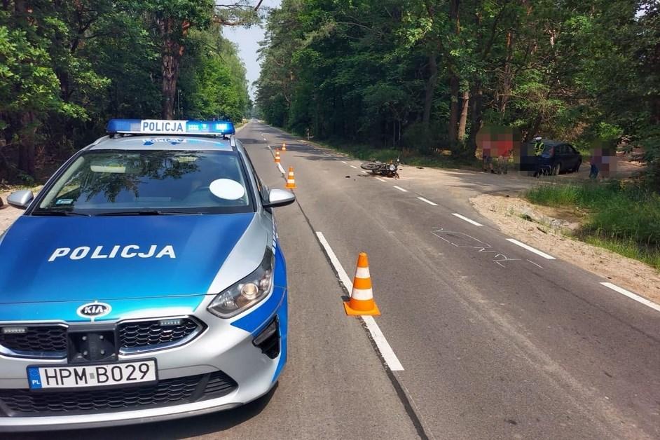 Gmina Nowogród: Zderzenie motocyklisty z osobówką