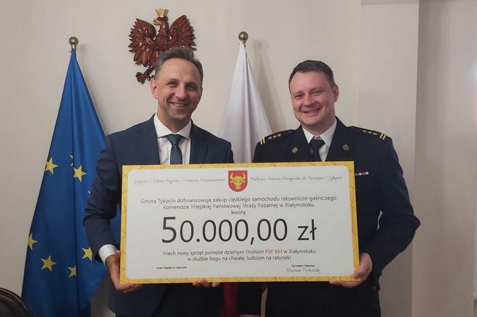 Tykocin: Samorząd wsparł PSP w Białymstoku