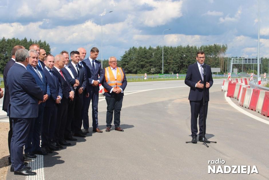 Via Baltica: Premier Morawiecki otworzył nowy odcinek S61