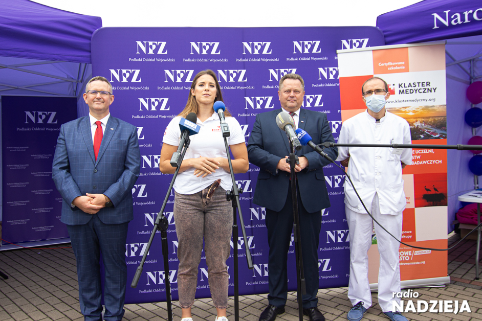 Łomża: Wicemistrzyni olimpijska Maria Andrejczyk zachęcała do zadbania o zdrowie