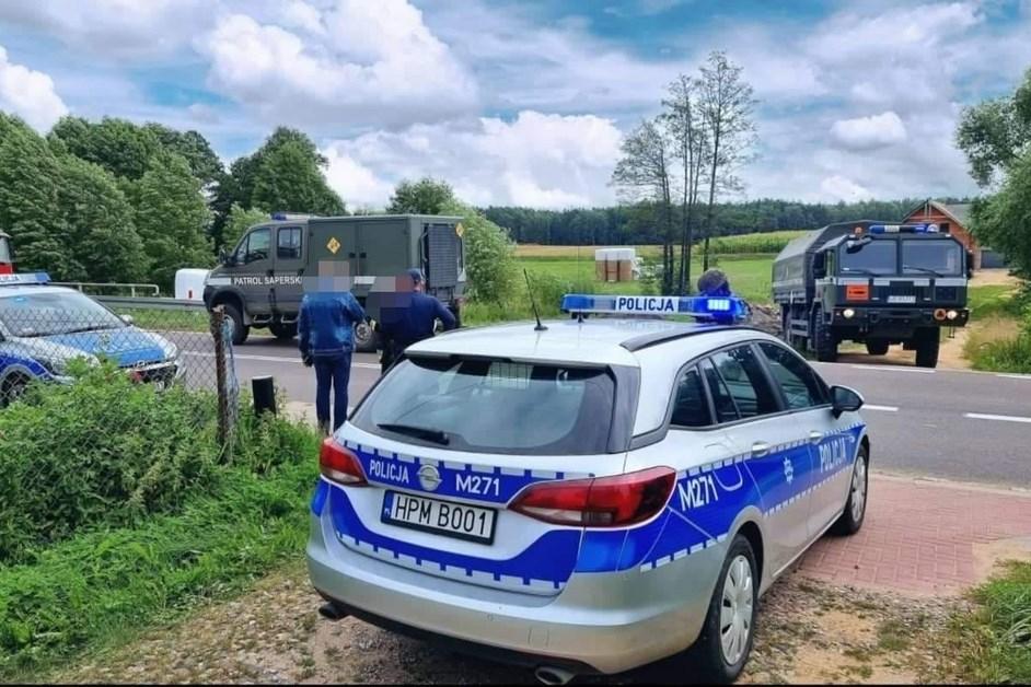 Gmina Jedwabne: Znaleziono niewybuch. Konieczna była ewakuacja