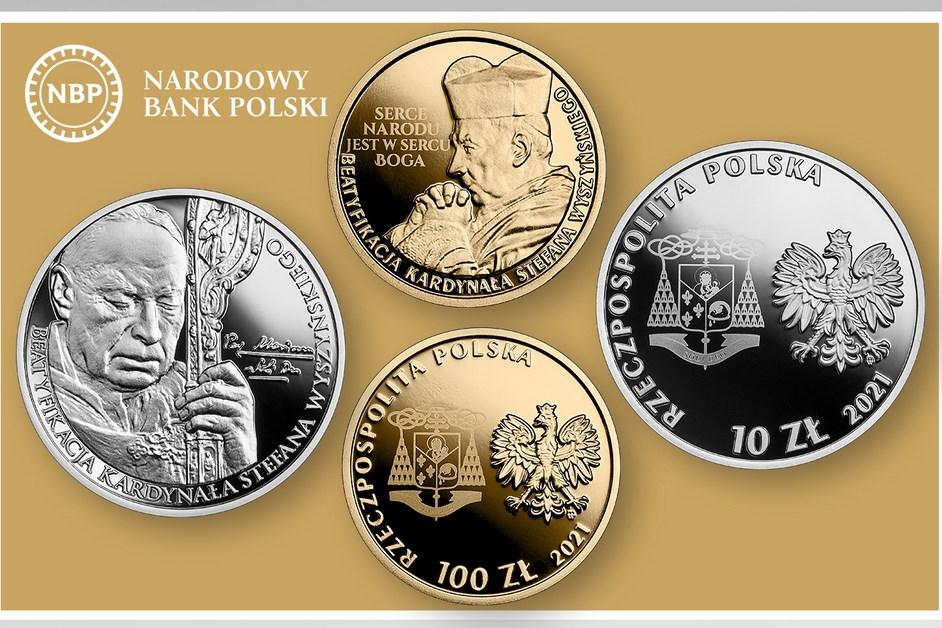 Kraj: Złote i srebrne monety NBP Kardynała Wyszyńskiego