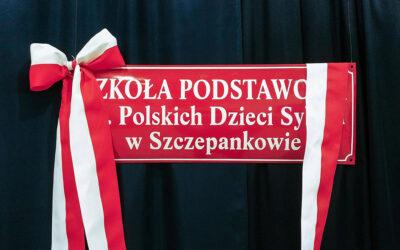 Gmina Śniadowo: Szkoła w Szczepankowie ma swojego patrona i nową salę gimnastyczną