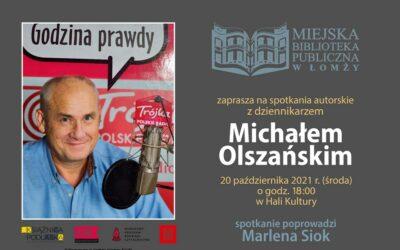 Łomża: Miejska Biblioteka zaprasza na spotkanie z Michałem Olszańskim